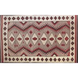 Good Navajo rug, c. 1920, central diamond pattern