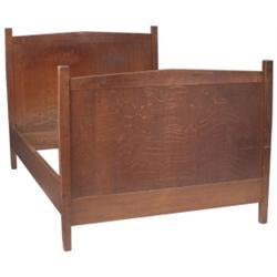 Gustav Stickley bed, #912, Harvey Ellis