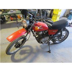 1978 100 CC HONDA MOTORCYCLE XL100 VIN 140492
