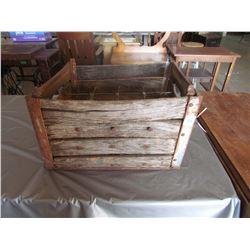 Wooden Crate metal corners, metal dividers for lrg bottles