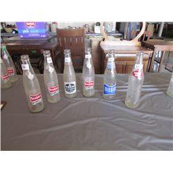 6 Pop bottles - 2 Mission, 3 Stubby, Double Cola