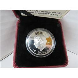 2012 $20 FINE SILVER COIN QUEEN'S DIAMOND JUBILEE