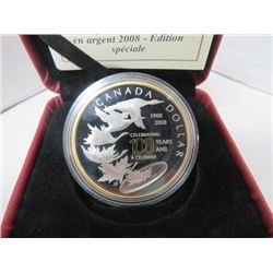 2008 SPEC EDITION PROOF SILVER DOLLAR CELEBRATING 100 YEARS