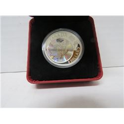 2007 $8 FINE SILVER COIN, MAPLE LEAF OF LONG LIFE