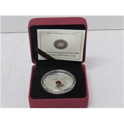 2009 $8 FINE SILVER COIN, MAPLE LEAF OF WISDOM