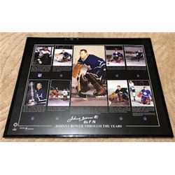 FRIDAY NIGHT! JOHNNY BOWER AUTOGRAPHED FRAMED TORONTO MAPLE LEAFS 16x20 PHOTO