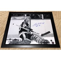 FRIDAY NIGHT! GERRY CHEEVERS FRAMED AUTOGRAPHED BOSTON BRUINS PHOTO WITH COA STICKER FROM PRO AM SPO