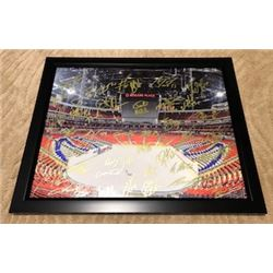 EDMONTON OILERS FRAMED PHOTO INCLUDING 42 AUTOGRAPHS FROM CONNOR MCDAVID AND WAYNE GRETZKY AND MANY