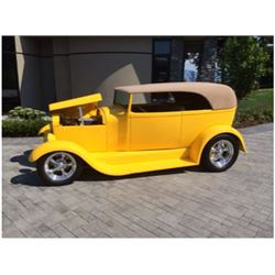 4:00PM SATURDAY FEATURE 1929 FORD MODEL A CUSTOM CABRIOLET HOT ROD