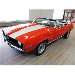 1969 CHEVROLET CAMARO SS CONVERTIBLE HUGGER ORANGE SUPER SPORT