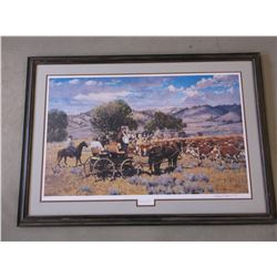 "Signed Gary Carter Print- ""Barons of Beef""- 645 of 850- Letter of Authenticity"