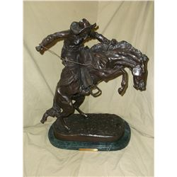 "Marked ""The Bronco Buster""- Frederic Remington Bronze- 17""W- 9""D X 24""H"