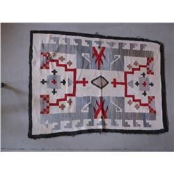 "Old Navajo Rug- 53""L X39""W- Minor Damage on Edges- Small Hole"