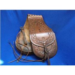 """Marked Victor Ario Saddlery Co. Great Falls Montana USA """" The Brand Of Quality"""" Saddle Bags- Fine Co"""