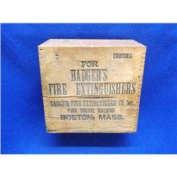 """Badgers Fire Extinguisher Box- Boston Mass- 8.5""""W X 4.5""""D X 8""""H"""