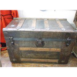 """Antique Trunk- 30""""L X 17""""D X 20.5""""H"""