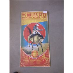 """Miles City Bucking Horse Print- 68 Annual- Marked Cyrus Walker- 36""""H X 18""""W"""