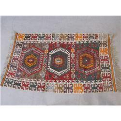 "Persian Rug- Handmade- Minor Fringe Loss- 80""L X 34""W"