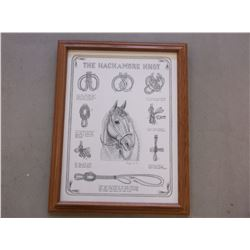 """Marked C Hought Copyright 89 Print- """"The Hackamore Knot""""- Frame 27""""L X 21""""W"""