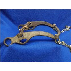 Marked EG Star Silver Inlaid Bit- Nevada Cheek Curb With Roller Mouth- Loose Jaw- Slobber Bar-Rein C