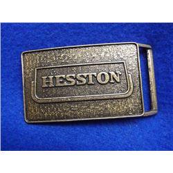 """Marked Hesston 444 #1 Belt Buckle- 1974- 3.5""""L X 2"""" W"""
