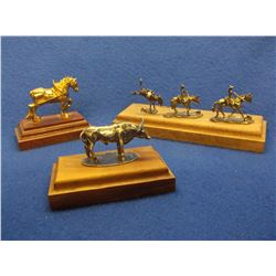Unmarked Charles Wheat Sterling Figurines- Draft Horse is Plated