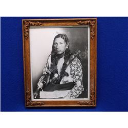 """Arapaho George Shakespeare Photo- Personal Friend of Tom Horn- Copyright 1899- 11""""H X 9""""W"""