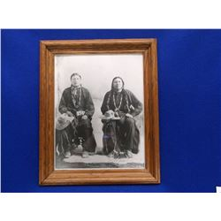 Photo of Yellow Calf and Unknow Indian- Yellow Calf Was the Last Chief of the Arapaho Tribe