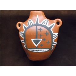 """SW Native Vase- Hand Painted- Handles- 10""""H X 9.5""""W"""