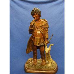 """Marked Josef Dvorak Indian Bronze- 5120- Cottonwood- MT Artist- 9""""L X 6""""W X 16.5""""H"""
