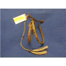 2 Hitched Horsehair Hat Bands and 1 Stampede String- Deer Lodge Prison- Adjustable