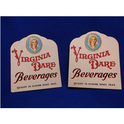 "2 Virginia Dare Cardboard Displays- 11.5""H X 9.5""W"