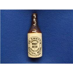 "Crock Dr. Swett's Root Beer Bottle- 8""H"
