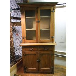 """Childs Hutch- Shelves- 4 Doors- 2 Drawers- Dovetailed- 49""""H X 25.5""""W X 13""""D"""