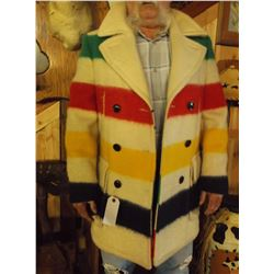 """Hudson Bay Point Blanket Coat- 100% Wool- Made In Canada- 40""""L"""