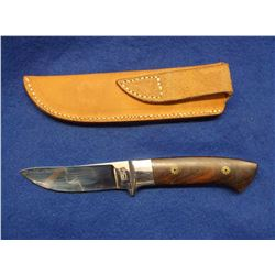 """Marked Dent-Stainless- West Virginia Knife Maker for 40 years- Blade 3.75""""L X .75""""W- Wood Handle 4""""-"""