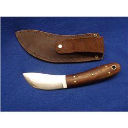 "Marked Skaggs Skinning Knife- Local Maker- Blade 4""L X 1.25""W- Handle 4.5""- Sheath"