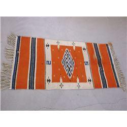 "Navajo Saddle Blanket- Has Some Holes- 52"" X 24"""