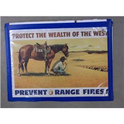 """Protect The Wealth of the West Poster- Artist Stan Galli- Montana State Forest Department- 20""""W X 15"""