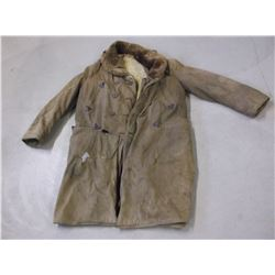 """Marked Sportclad Frontier Coat- Sheepskin- Lined- Patched- 46""""L"""