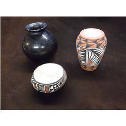 3 Marked Acoma Pots