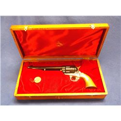 """Colt 125th Anniversary SAA Revolver- .45- 7.5"""" Barrel- Unfired in Original Presentation Box- Medalli"""