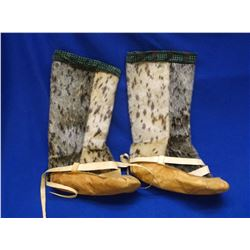 """Native Made Leopard Seal Hide Mukluk Boots- Uppers 17""""- Lowers 12"""""""