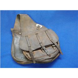 """U.S. Cavalry Saddle Bags- 1 Buckle is Missing- Double Pockets- Bag 12"""" X 12"""""""