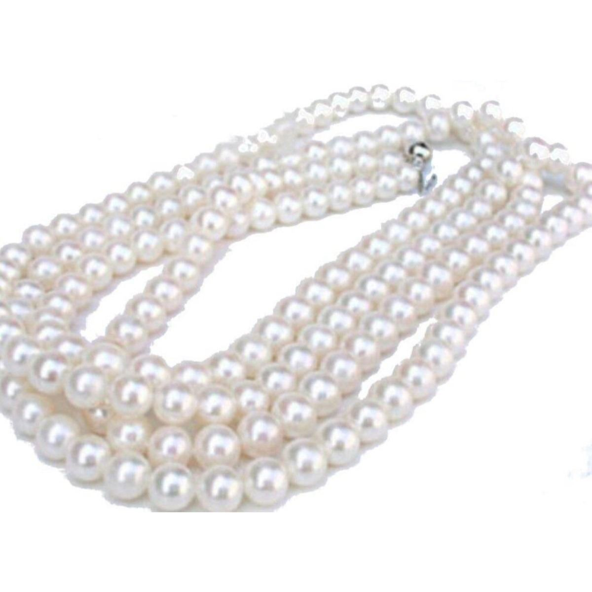 Per String 7-8mm Oyster Pink Near Round Freshwater Pearls  Jewellery 60