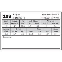 Lot 108 - Targhee