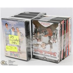 25 COMEDY DVDS