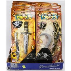 FLAT OF ASSORTED PIRATE PLAY SETS
