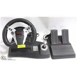 PC DRIVING FORCE CAR GAME STEERING WHEEL AND
