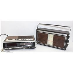 2 VINTAGE RADIOS – SANYO AND SEARS BRANDS